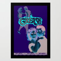 grease Art Prints featuring Grease  by Dora Birgis
