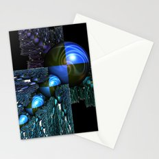 Squares and Spheres Stationery Cards
