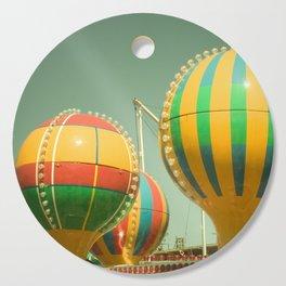 Up Up & Away II Carnival, fair, ride, amusement, whimsical, fun rainbow, adventure Cutting Board