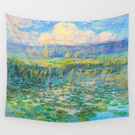 Václav Radimský (1867-1946) Windy Day Impressionist Landscape Oil Painting Wall Tapestry