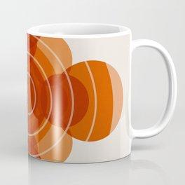 Earthy Red Scandinavian Floral Design Coffee Mug