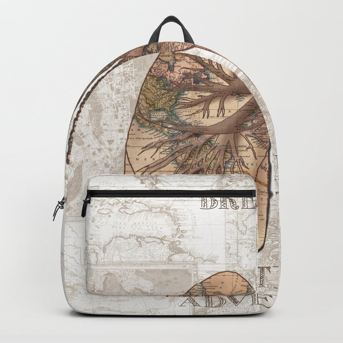 breathe the adventure-world map 1 Backpack