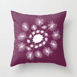 Fine and Dandy - Magenta Purple Throw Pillow