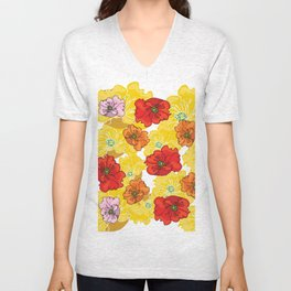 marzipan flowers Unisex V-Neck