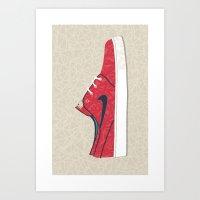 nike Art Prints featuring Nike by Zachary Kiernan