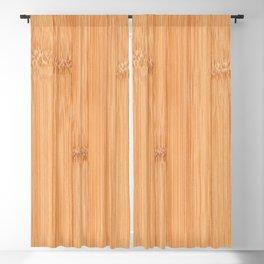 Cool elegant light brown bamboo wood print Blackout Curtain