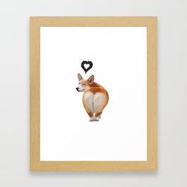 Corgi Love Framed Art Print