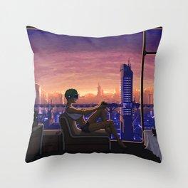 Dystopian Gamer Throw Pillow
