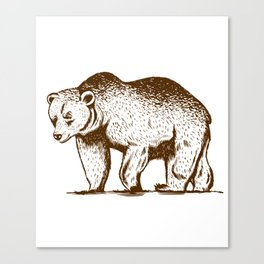 Wildlife Brown Bear Animal Art For Nature Lovers Canvas Print