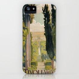 Tivoli Lazio Rome travel ad iPhone Case