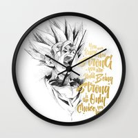 dragonball Wall Clocks featuring Dragonball Z - Strenth by Straife01