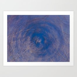 Funky Abstraction of Tree branches against a blue sky Art Print