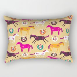 Lucky Horses Rectangular Pillow