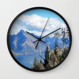 New Zealand Lake Wall Clock