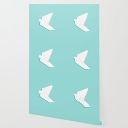 Origami pigeon Wallpaper