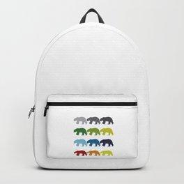 Neon Pop Art Retro Polar Bear Animal Gift Idea Backpack