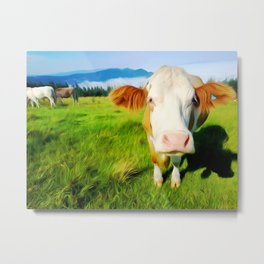 Cow Art For Animal Lover Metal Print