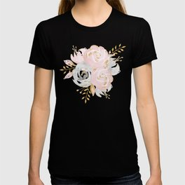 Night Rose Garden Gray T-shirt