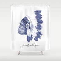 ape Shower Curtains featuring Indian ape by Luiz Fogaça