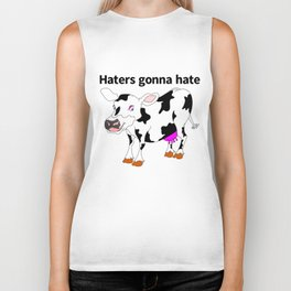 Haters Gonna Hate Biker Tank