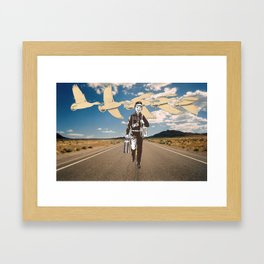 the traveler Framed Art Print