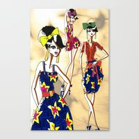 marc jacobs Canvas Prints featuring Marc Rendition5 by Ashley Love