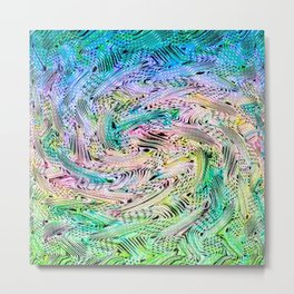 Pastel Swash Metal Print