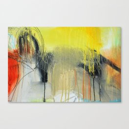 Gold Yellow Abstract Print  Canvas Print