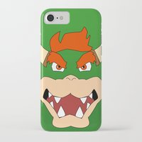 mario bros iPhone & iPod Cases featuring Bowser Super Mario Bros. by JAGraphic