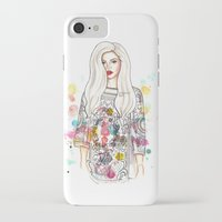 selena gomez iPhone & iPod Cases featuring selena illustration by sparklysky