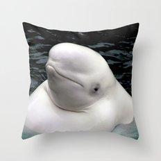 Beluga Whale Throw Pillow