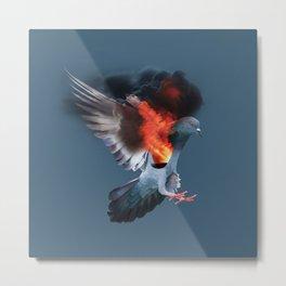 Birds on fire Metal Print