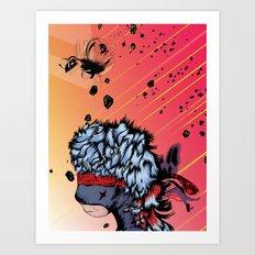 Ninja Bear & Lagorca Art Print