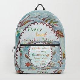 Brontë Quote Backpack