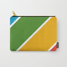 Colorful Diagonal Stripes Carry-All Pouch