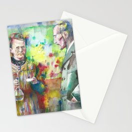 MARIE and PIERRE CURIE - watercolor portrait Stationery Cards