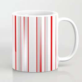 Stripes Red grey 01 Coffee Mug