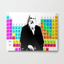 Mendeleev & Periodic Table Metal Print
