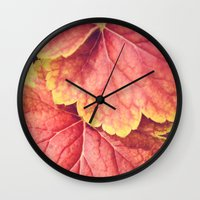 Two Leaves Wall Clock