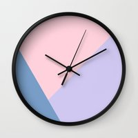 pantone Wall Clocks featuring Pantone by Mountain View Art