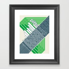Pittsburgh neighborhoods, rev. 2 Framed Art Print