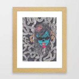 Day of the Dead Medusa Framed Art Print