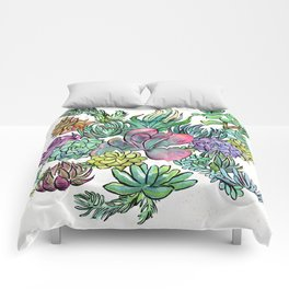 Succulent Sorceress Comforters