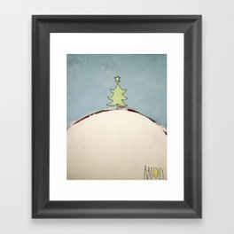 Christmas Tree on a Hill Framed Art Print