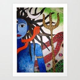 Shiva - Anstract Art by Saneeshsa Art Print