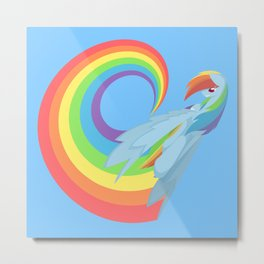 Rainboom Rainbow Dash Metal Print