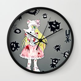 Pretty in Bloody Pink Wall Clock