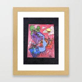 Camping in Season Framed Art Print