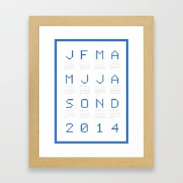 Blue calendar 2014 Framed Art Print