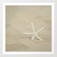 starfish Art Prints featuring Starfish  by Laura Ruth
